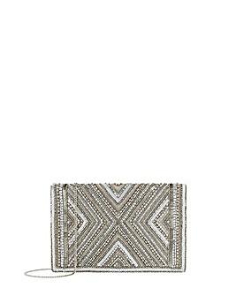 Accessorize Cleo Beaded Clutch