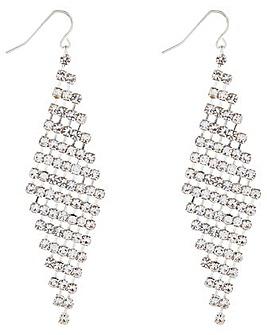 Accessorize Diamante Chain Mail Earrings
