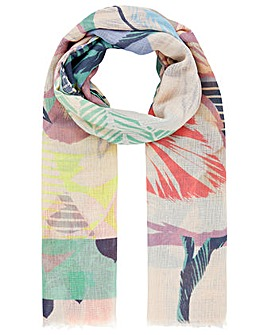 Accessorize Abstract Geo Bloom Stole Rec