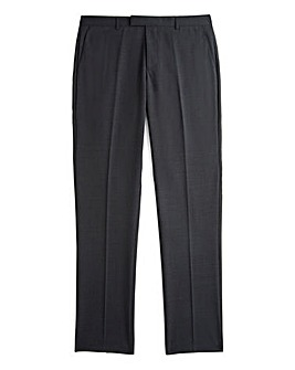 Jacamo Slim Charcoal Stretch Suit Trousers 33in