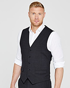 Flintoff By Jacamo Slim Charcoal Stretch Suit Waistcoat