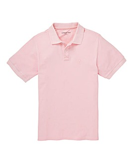 Capsule Light Pink Embroidered Polo Long