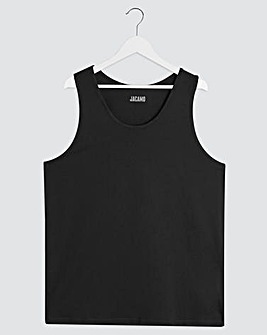 Black Basic Vest Regular