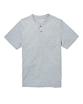 Capsule Grey Marl Grandad T-Shirt L