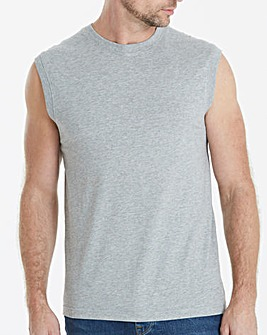 Grey Marl Muscle Top Regular