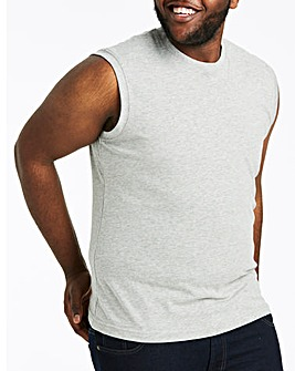 Grey Marl Muscle Top