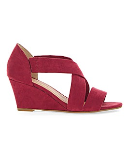 Soft Crossover Wedge Sandals Extra Wide EEE Fit