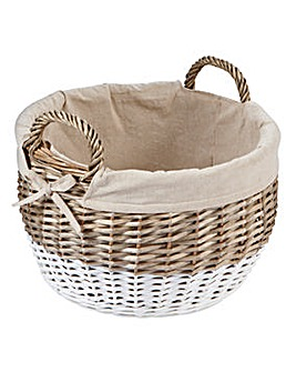 Dipped Oval Basket with Lining