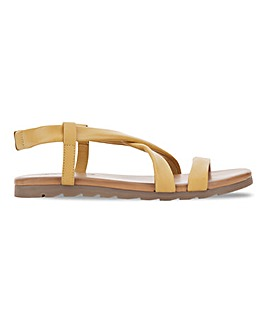 Soft Leather Crossover Slingback Sandals Wide E Fit