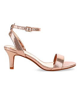 Kitten Heel Strappy Sandals E Fit