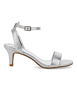 Kitten Heel Strappy Sandals Extra Wide EEE Fit