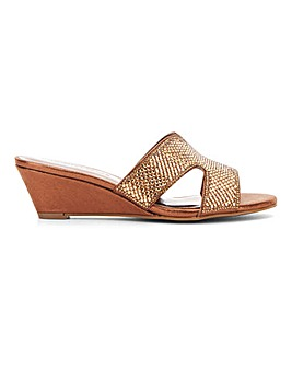 Occasion Wedge Mule Sandals Wide E Fit
