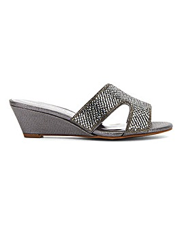 Occasion Wedge Mule Sandals EEE Fit