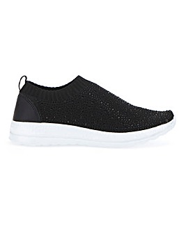 Diamante Detail Leisure Shoes EEE Fit