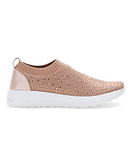 Diamante Detail Leisure Shoes Wide E Fit