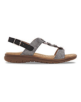 Heavenly Feet Interweave Sandals Wide E Fit