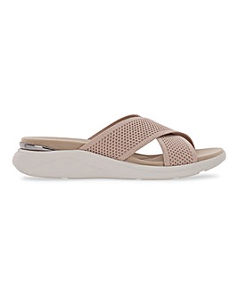 Heavenly Feet Crossover Sandals Wide E Fit