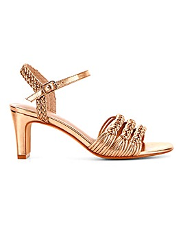 Interweave Strappy Sandals Wide E Fit