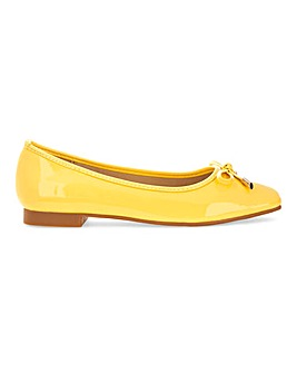 Patent Bow Ballerina Shoes Wide E Fit