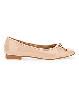 Patent Bow Ballerina Shoes Extra Wide EEE Fit
