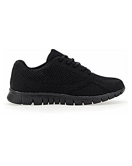 Cushion Walk Lace Up Trainers Wide E Fit