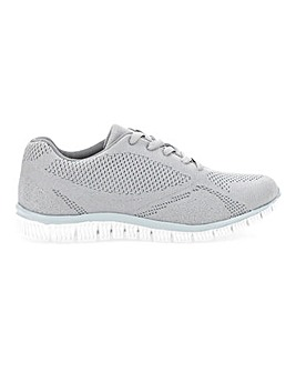 Cushion Walk Lace Up Trainers Extra Wide EEE Fit