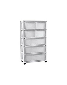 7 Drawer Plastic Tower Storage Unit