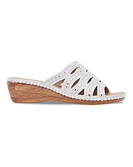 Cushion Walk Diamante Mule Sandals Extra Wide EEE Fit