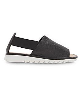 Cushion Walk Elastic Side Strap Sandals Wide E Fit