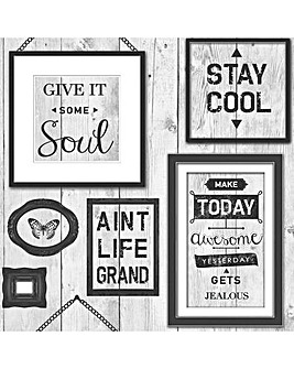 Fresco Inspire Black/White Typography Wallpaper
