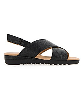 Cushion Walk Crossover Sandals EEE Fit