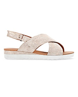 Cushion Walk Crossover Sandals Extra Wide EEE Fit