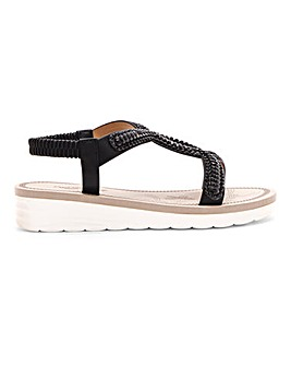 Cushion Walk Lightweight Embellished Sandals Wide E Fit