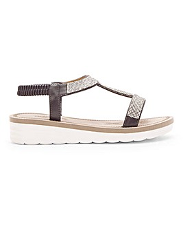 Cushion Walk Lightweight Diamante Sandals Extra Wide EEE Fit