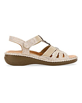 Cushion Walk Strappy Comfort Sandals Wide E Fit