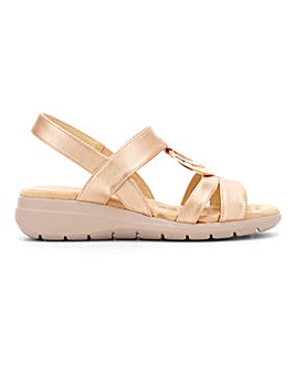 Cushion Walk Ring Trim Sandals Wide E Fit