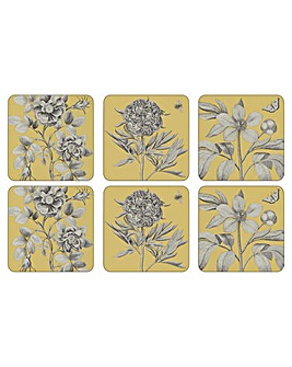 Pimpernel Etchings & Roses Coasters