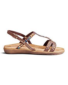 Cushion Walk Diamante Sandals E Fit
