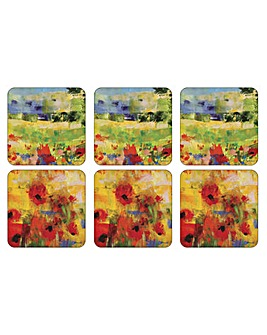 Pimpernel Impressionist Flowers Coasters
