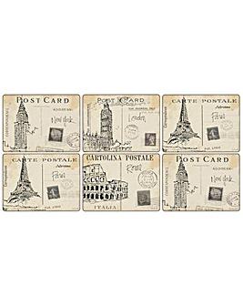Pimpernel Postcard Sketches Placemats