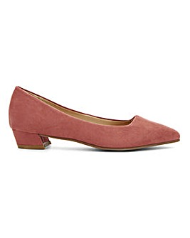 Low Heel Court Shoes E Fit