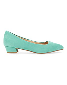Low Heel Pointed Toe Court Shoes Wide E Fit