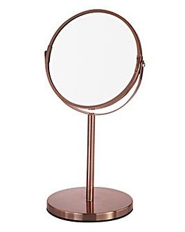 Copper Pedestal Mirror