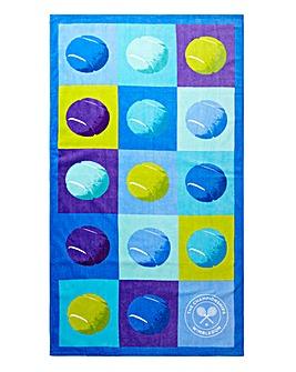 Wimbledon Christy Tennis Beach Towel