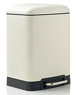 Oslo Rectangle Pedal Bin 6L Cream