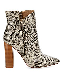 Raid Keyla Zip Ankle Boots Extra Wide EEE Fit