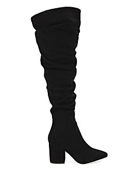 Raid Ansley Ruched Knee High Boots