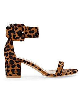 Raid Frances Buckle Block Heel Sandals Wide E Fit
