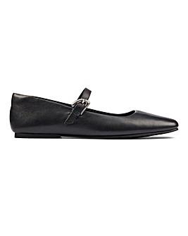 Clarks Pure T Bar Shoes D Fit