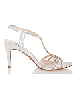 Quiz T Bar Occasion Sandals Wide E Fit